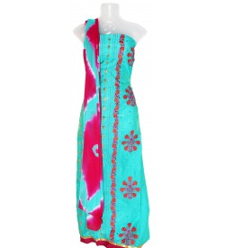 Jall Silk Dress Material (Un-stitched) With Print Dupatta - DM1333
