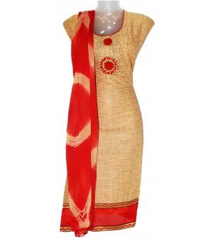 Soni Kudi Cotton Dress Material (Un-stitched) With Shaburi Dupatta - DM1338