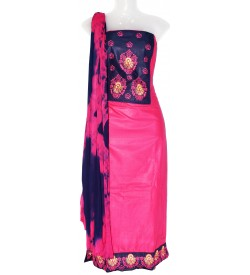 Karama-02 Cotton Embroidered Dress Material (Un-stitched) With Shiboori Dupatta - DM1368