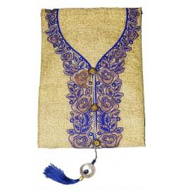 Falguni-16 Cotton Embroidered Dress Material (Un-stitched) With Shiboori Dupatta - DM1401