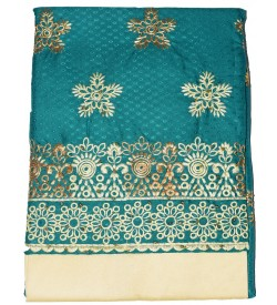 Kalamkari-1 Cotton Embroidered Dress Material (Un-stitched) With Butter Dupatta - DM1407