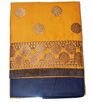 Saloni-2 Cotton Embroidered Dress Material (Un-stitched) With Chimki Dupatta - DM1409