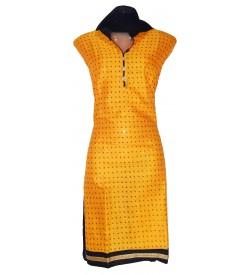I-Ball Cotton Bottom Work Dress Material (Un-stitched) With Butter Dupatta - DM1419