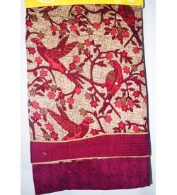 Kashish Parrot Design Magenta  Colour Cotton Salwar Kameez & Dupatta ( Unstitch ) -1498