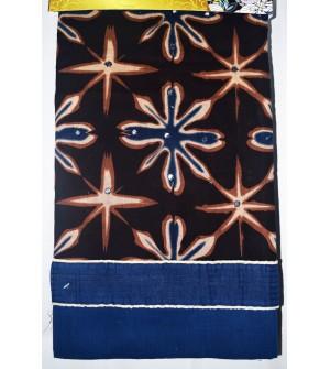 Kashish Flower Design D.Brown Colour Cotton Salwar Kameez & Dupatta ( Unstitch ) -1500