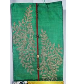 Kashish Flower plant Design Green Colour Cotton Salwar Kameez & Dupatta ( Unstitch ) -1506