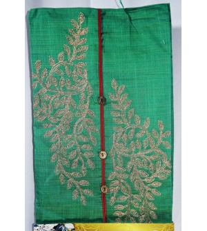 Kashish Flower plant Design Green Colour Cotton Salwar Kameez & Dupatta ( Unstitch ) -1506