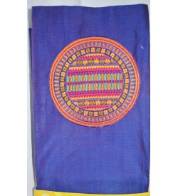 Kashish Violet Cotton Salwar Kameez & Dupatta ( Unstitch ) -1526
