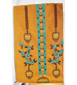 Kashish Design Mustard Colour Cotton Salwar Kameez & Dupatta ( Unstitch ) -1530