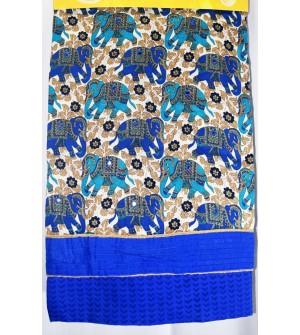 Kashish Elephant Design Multi Colour Cotton Salwar Kameez & Dupatta ( Unstitch ) -1532
