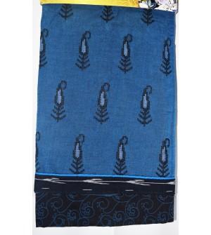 Kashish Design D.Sky Blue  Colour Cotton Salwar Kameez & Dupatta ( Unstitch ) -1534