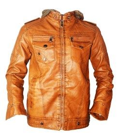 D & G Dolce Gabbana Leather Mens Jacket (Tan, Pack of 1) - 0767