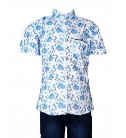 Desi Apple Rose Printed Shirt with Jeans Trousers For Kids Boys - 0670