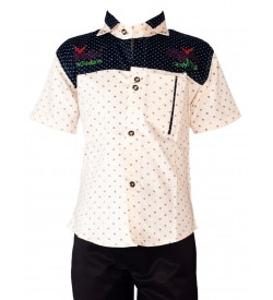 New Fashion Shirt with Cotton Trousers For Kids Boys - 0680