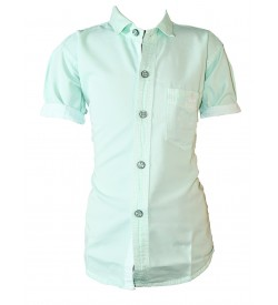 Bozzio Green Regular Fit Plain Casual Shirt For Boys - 0748