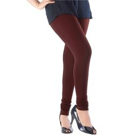 FW Coffee Brown Cotton 2 Way Stretch Leggings