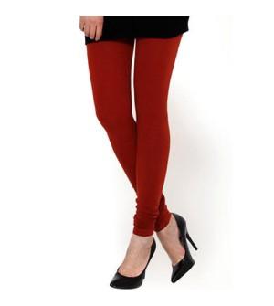 FW Dark Red Cotton 2 Way Stretch Leggings