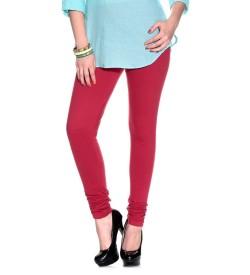 FW Dark Pink Cotton 2 Way Stretch Leggings
