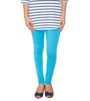 FW Light Blue Cotton 2 Way Stretch Leggings