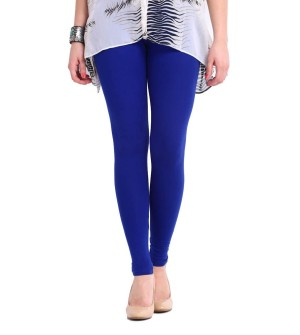 FW Royal Blue Cotton 2 Way Stretch Leggings