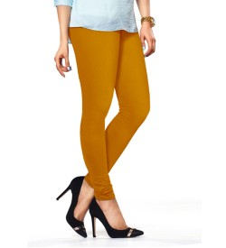 FW Mustard Cotton 2 Way Stretch Leggings