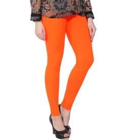 FW Orange Cotton 2 Way Stretch Leggings