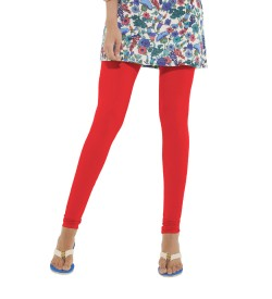 FW Red Cotton 2 Way Stretch Leggings