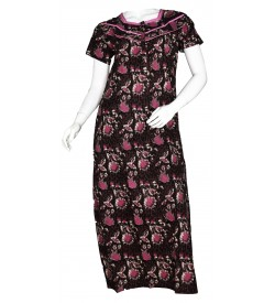 Indus Anush 1/2 Sleeve Printed Nighty For Women's - 0122