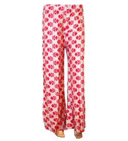 Bonie L.Grey Printed Palazzo Trousers For Women - 0453