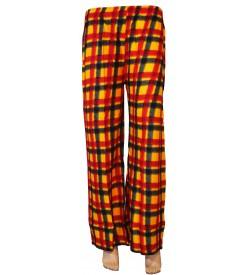 Bonie Orange Printed Palazzo Trousers For Women - 0456