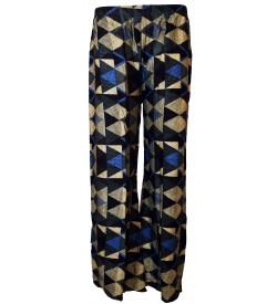 Bonie Multi Colour Printed Palazzo Trousers For Women - 0459