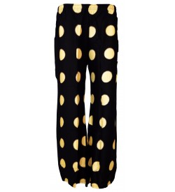 Bonie Black Printed Palazzo Trousers For Women - 0462