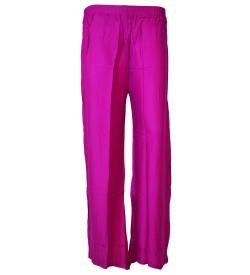 Bonie Voilet Reyon Plain Palazzo Trousers For Women - 0465