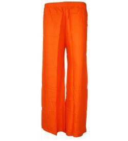 Bonie Orange Reyon Plain Palazzo Trousers For Women - 0471