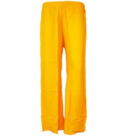 Bonie Yellow Reyon Plain Palazzo Trousers For Women - 0474