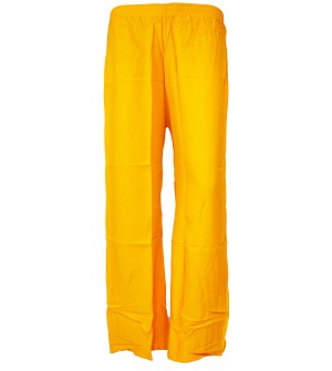 Bonie Yellow Reyon Plain Palazzo Trousers For Women - 0474