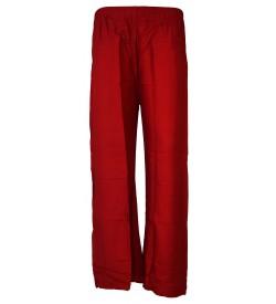 Bonie Maroon Reyon Plain Palazzo Trousers For Women - 0477