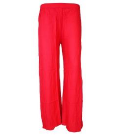 Bonie Strawberry Reyon Plain Palazzo Trousers For Women - 0483