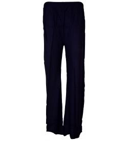 Bonie Navy Blue Reyon Plain Palazzo Trousers For Women - 0486