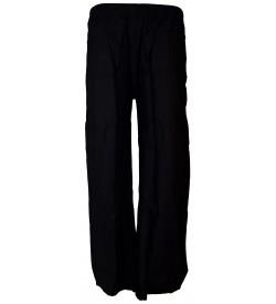Bonie Black Reyon Plain Palazzo Trousers For Women - 0489