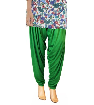 Zara Parrot Green Salwar Patiala For Women