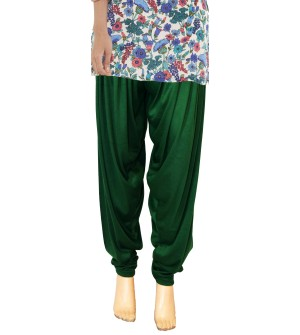 Zara Bottle Green Salwar Patiala For Women