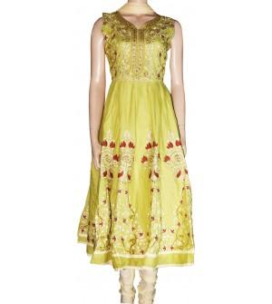 Twinkle Flower Design Stone Work Embroidered Cotton Salwar Suit  - 1458