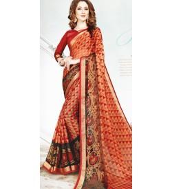 Leesa Virasat Multi Colour Saree With Unstitched Blouse