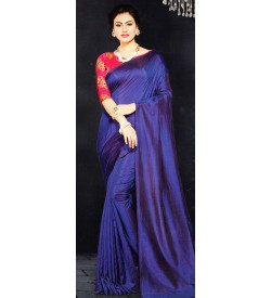 Veeshree Royal Blue Surat Pattu Saree With Blouse