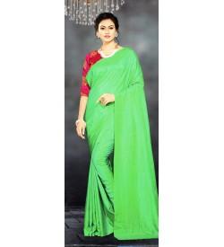 Veeshree Green Surat Pattu Saree With Blouse