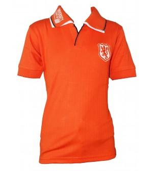 Dia Boys Plain Striped Cotton T Shirt (Orange, Pack of 1) - 0700