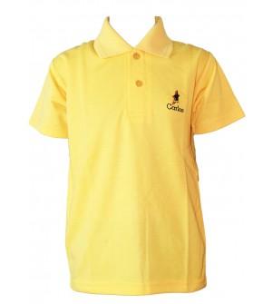 Carlos Boys Plain Cotton T Shirt (Yellow, Pack of 1) - 0712