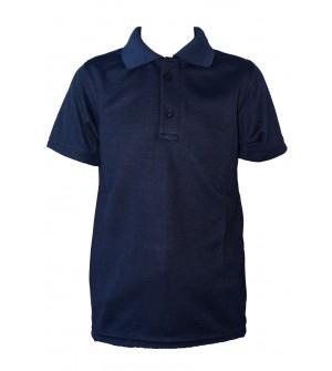 Carlos Boys Plain Cotton T Shirt (Navy Blue, Pack of 1) - 0714