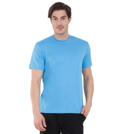 Jockey Azure Blue Sport T-Shirt - 2714